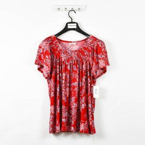 Style & Co Women's Plus Floral Printed Blouse Top